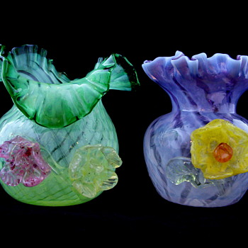 Applied Glass Flower Small Posy Vase Set