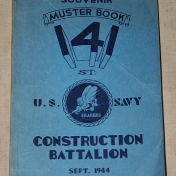 1944 Muster Book Seabees 141st Const. Batt.