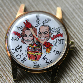 Schlitz Character  Wristwatch.