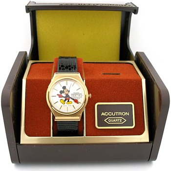 N.O.S. 1980 Mickey Mouse Bulova Accutron Quartz in Box - Wristwatches