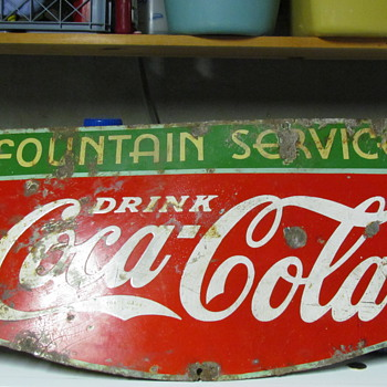 1934 Coca Cola porcelin sign - Advertising