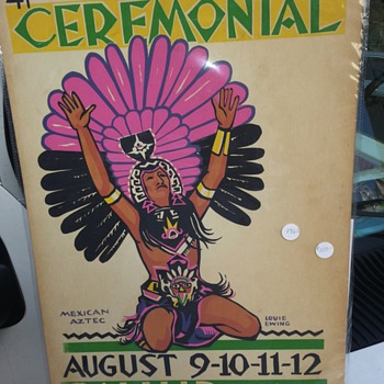 AN ORIGINAL 41st ANNUAL INTER - TRIBAL INDIAN CEREMONIAL (LOUIE EWING) POSTER - Posters and Prints