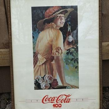 Coca-Cola Vintage Style 1986 Centennial Celebration Picture
