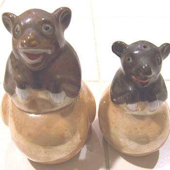 Luster bear condiment set