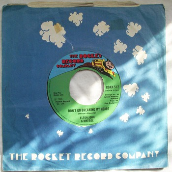 1976-elton john-the rocket record company-single-45rpm. - Records