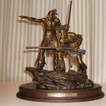 Franklin Mint Intruder Alert Bronze