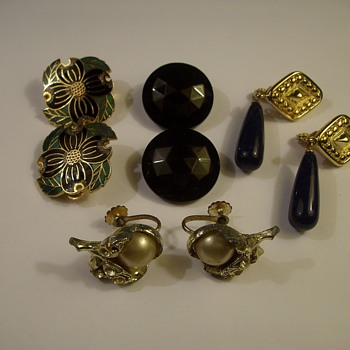 "More Vintage Costume Jewelry ""Earrings"""