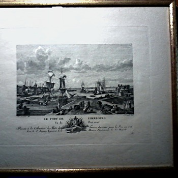 "Engraving  by Nicolas-Marie Ozanne ""Le Port De Cherbourg"" #37/ Engraved by G. Canali / Circa 1930 ? - Posters and Prints"