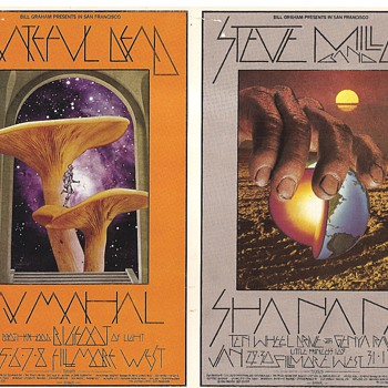 Mushroom Man postcard, BG-214 & 216, by David Singer - Posters and Prints