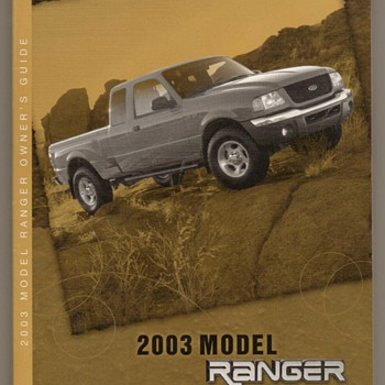 2003 Ford Ranger Truck - Owners Manuals