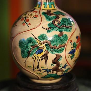 Tall Kutani Vase - Pottery