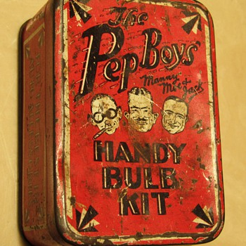 Pep Boys Handy Bulb Kit Tin Box - Advertising