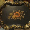 53 painted metal tray signed