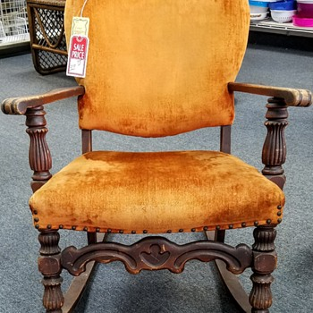Hospice Thrift Shop find - possible Jacobean rocking chair? - Furniture