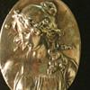 Henryk Winograd Repousse .999 Silver Pendant Primavera