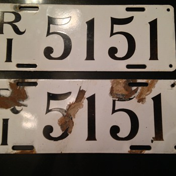Pair of 1912 Rhode Island License Plates - Signs
