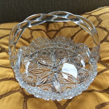 vintage crystal basket