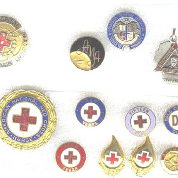 A Nurse's Life Time of Service and a Handfull of Pins - Military and Wartime