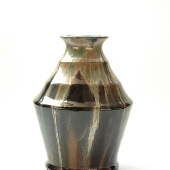 french art deco pottery vase by LEON ELCHINGER - Art Deco