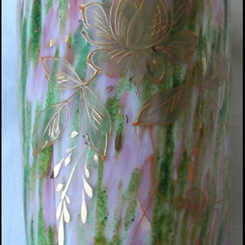 Aventurine Vase Welz  ??????? - Art Glass