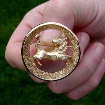 Trifari Zodiac Leo Brooch - Costume Jewelry