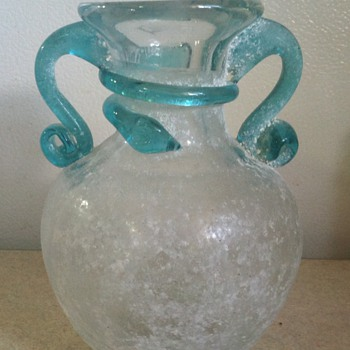 Vase with rough powdery looking finish - Art Glass