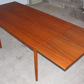 Refinished Danish Modern Teak Dining Table by Poul Volther