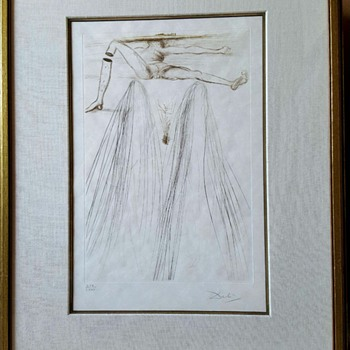 Salvador Dali print LE GÉANT BELIAGOG (THE GIANT BELIAGOG - Mid-Century Modern