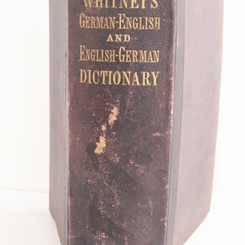 1877 German-English & English-German Dictionary - Books