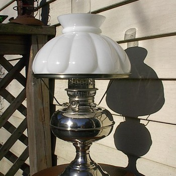 Nickel Rayo Lamp