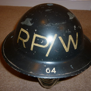 British WW11 Repair Party helmet