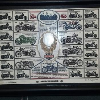 Harley Davidson engraving.  Rare??
