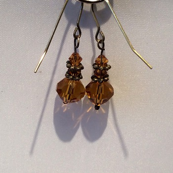 Antique citrine faceted cut earrings