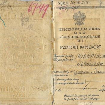 WW2 used Polish passport