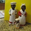 Black face salt and pepper shakers