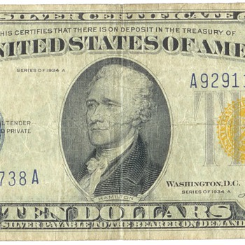 $10 N.Africa Silver Certificate