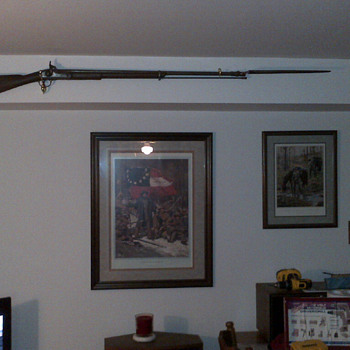 1863 Confederate Enfeild Tower Musket with original bayonet
