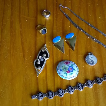 """Stuff"" Bought At Last Weekend's (July 19th) Flea Markets. - Fine Jewelry"