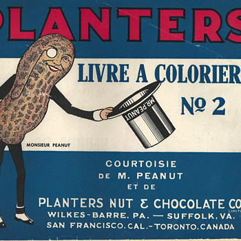"Mr Peanut Coloring Book""1930-40"