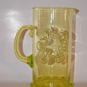 """Kasperi"" jug from Riihimäki glassworks"