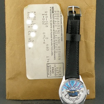 1985 Disney Black Cauldron wind-up Frito Lay Premium Wrist Watch