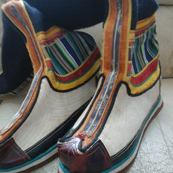 very colouful moccasin type boots