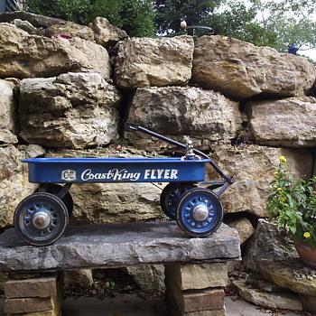 Unrestored Blue C to C  Coast King Flyer Wagon
