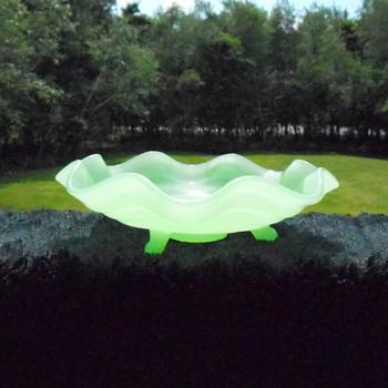 Fenton Jade Green Dish