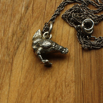 Small silver chicken charm - Fine Jewelry