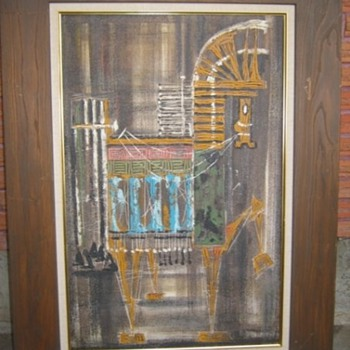 MCM Trojan Horse painting by Van Hoople? - Mid Century Modern