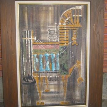 MCM Trojan Horse painting by Van Hoople? - Mid-Century Modern