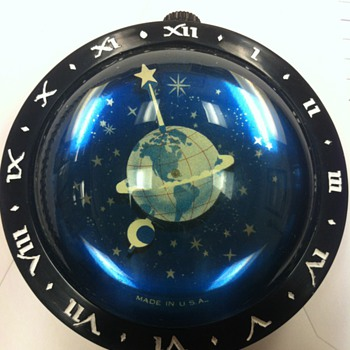 Westclox Earth paperweight clock--1936-1938 - Clocks