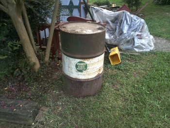Vintage 1955 55 gallon oil drum by quaker state and for 55 gallon drum motor oil