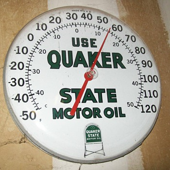 Quaker state thermometer - Advertising